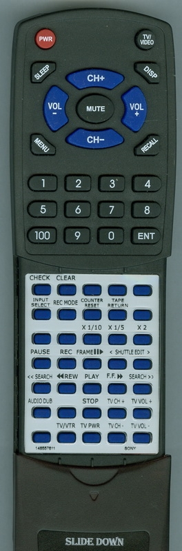 SONY 1-465-576-11 RMT-455 Custom Built Replacement Redi Remote