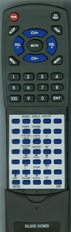 SONY 1-466-795-21 RMT-702 Custom Built Replacement Redi Remote