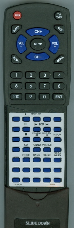SONY 1-467-042-11 RMT-C768 Custom Built Redi Remote