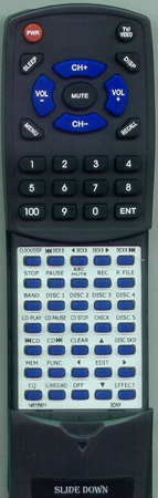 SONY 1-467-258-11 RM-S737 Custom Built Redi Remote