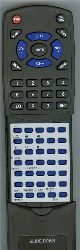 SONY 1-467-430-11 RM-S221 Custom Built Redi Remote
