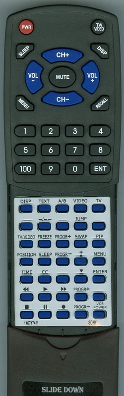SONY 1-467-474-11 RM-845P Custom Built Replacement Redi Remote