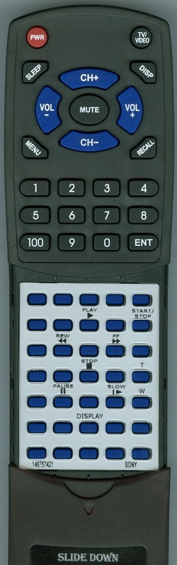 SONY 1-467-574-21 RM-T708 Custom Built Redi Remote