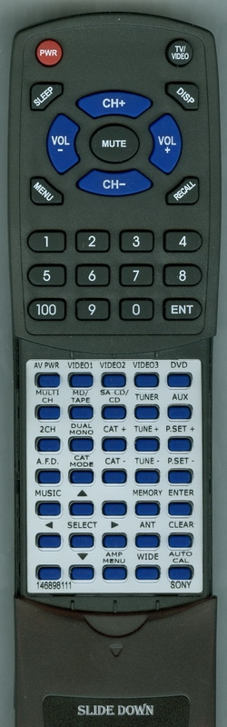 SONY 1-468-981-11 RM-AAP012 Custom Built Replacement Redi Remote