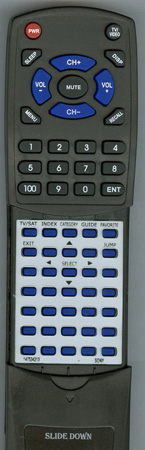SONY 1-475-342-13 RM-Y139 Custom Built Redi Remote