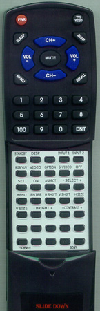 SONY 1-476-545-11 RM42B Custom Built Replacement Redi Remote