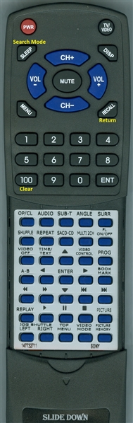 SONY 1-477-327-11 RMT-D150A Custom Built Redi Remote