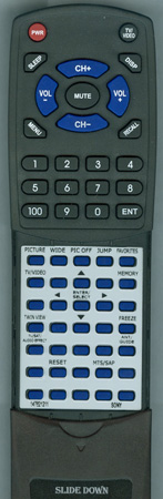 SONY 1-478-212-11 RM-Y1001 Custom Built Replacement Redi Remote