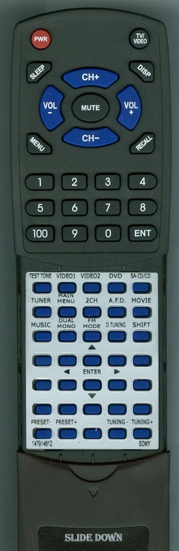 SONY 1-479-148-12 RM-AAU002 Custom Built Replacement Redi Remote