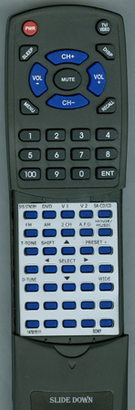 SONY 1-479-151-11 RMAAU004 Custom Built Replacement Redi Remote