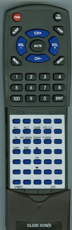 SONY 1-479-546-12 RM-336 Custom Built  Redi Remote