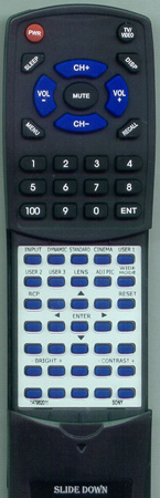 SONY 1-479-620-11 RM-PJVW100 Custom Built Redi Remote