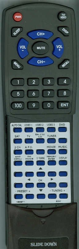 SONY 1-480-097-11 RM-AAU013 Custom Built Redi Remote
