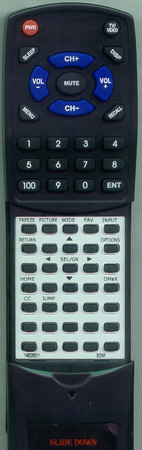 SONY 1-480-262-11 RMYD018 Custom Built Redi Remote