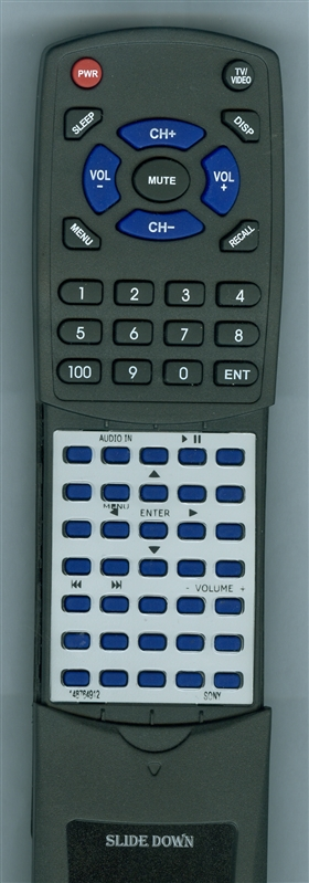 SONY 1-487-649-12 RMANU082 Custom Built Redi Remote