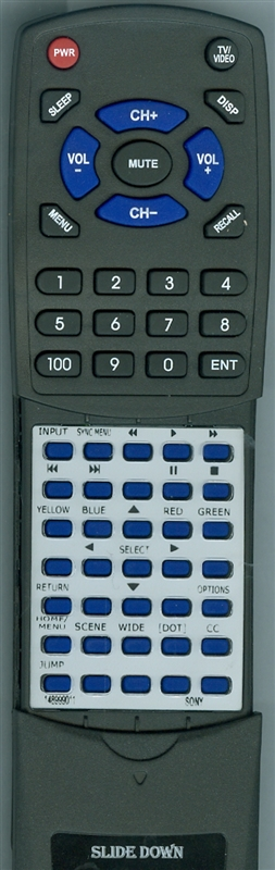 SONY 1-489-990-11 RM-YD080 Custom Built Replacement Redi Remote