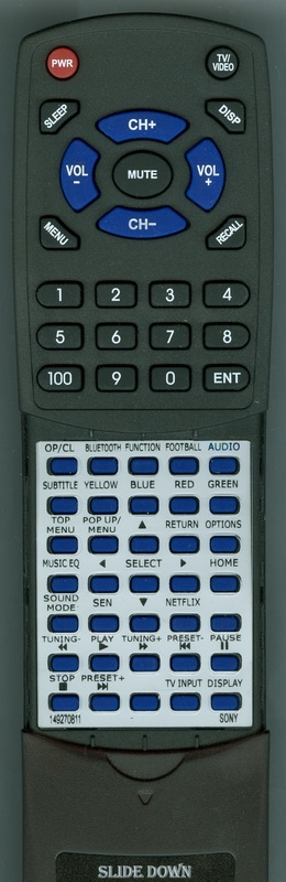 SONY 1-492-708-11 RM-ADP111 Custom Built Replacement Redi Remote