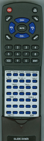 SONY 1-492-711-11 RM-ANU191 Custom Built Replacement Redi Remote