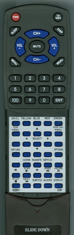 SONY 1-492-954-11 RMT-VB100U Custom Built Redi Remote