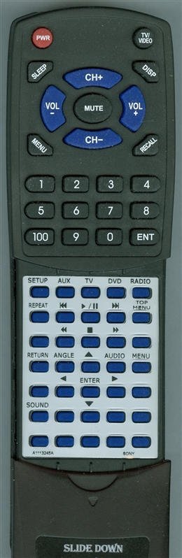 SONY A-1113-245-A RMTCDVD57A Custom Built Replacement Redi Remote