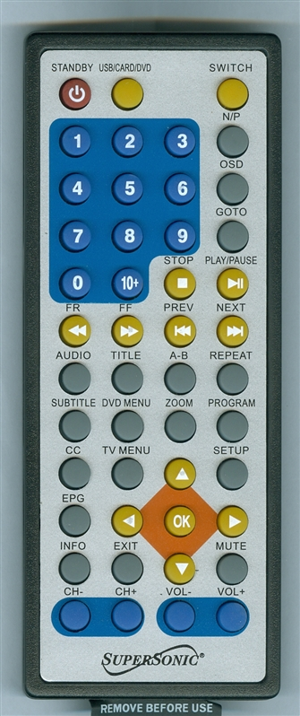 SUPERSONIC SC-491V2 Genuine OEM Original Remote