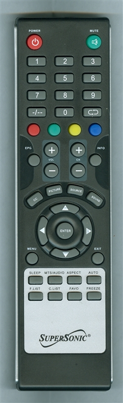 SUPERSONIC SC3210 Genuine OEM Original Remote