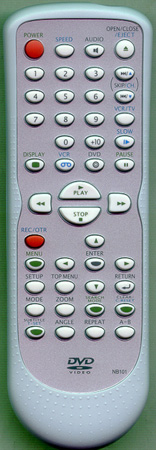 SYLVANIA NB101UD NB101 Genuine  OEM original Remote