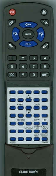 SYLVANIA N9335UD N9335 Custom Built Replacement Redi Remote