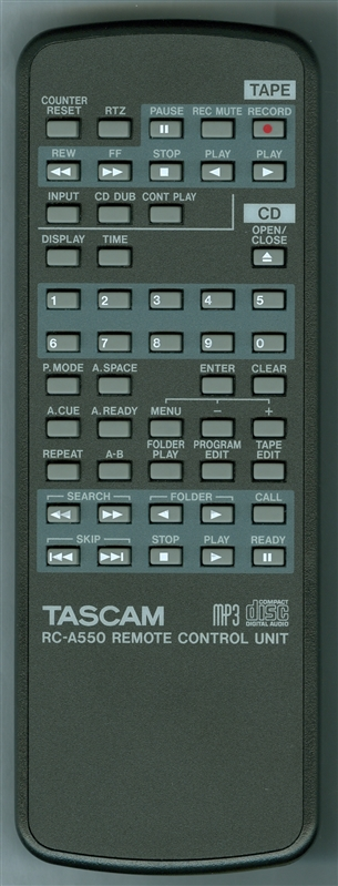 TASCAM E01526500A RC-A550 Genuine OEM Original Remote