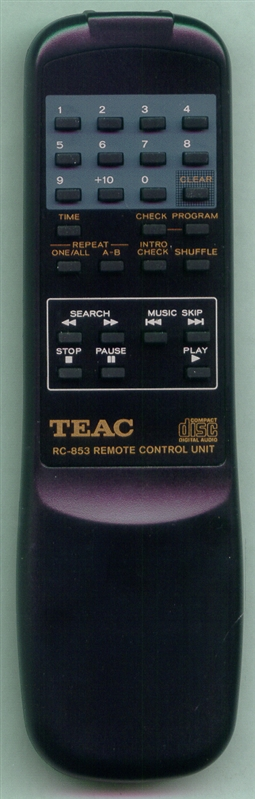 TEAC 01-1P1250000-00 RC853 Genuine OEM Original Remote