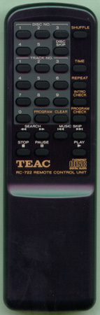 TEAC 4U10002205 RC-722 Genuine  OEM Original Remote