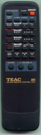 TEAC 9A09763000 UR-420 Genuine OEM original Remote