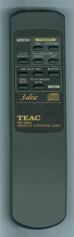 TEAC DCD-2700 RC669 Genuine OEM Original Remote