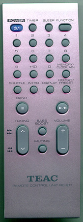 TEAC RC-917 RC917 Genuine OEM original Remote