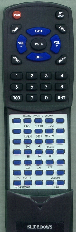 TEAC 02-17GF35000000 RC992 Custom Built Redi Remote