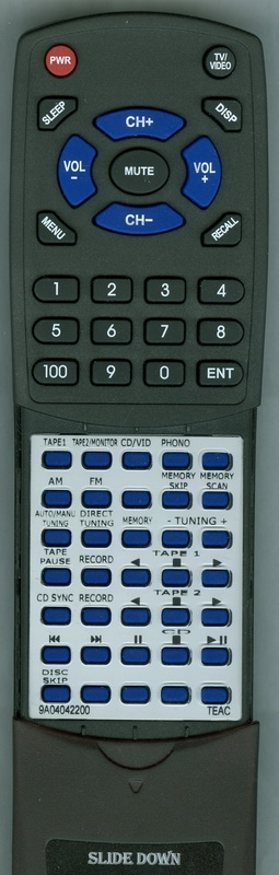TEAC 9A04042200 UR-401 Custom Built Redi Remote