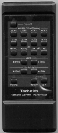 TECHNICS EUR64118 Genuine  OEM Original Remote