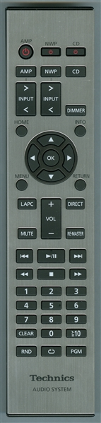 TECHNICS N2QAYA000096 Genuine  OEM Original Remote