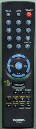 TOSHIBA 23306266 CT-9951 Genuine  OEM Original Remote