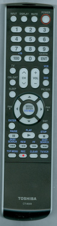 TOSHIBA 75003939 CT8009 Genuine  OEM Original Remote