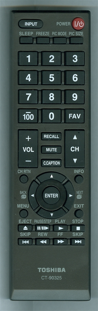 TOSHIBA 75028874 CT-90325 Genuine OEM Remote Control