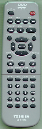 TOSHIBA 79078069 SE-R0049 Genuine OEM Original Remote