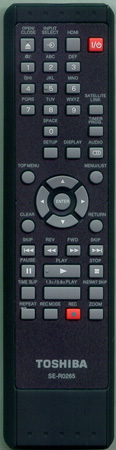 TOSHIBA P000483240 SE-R0265 Genuine  OEM Original Remote