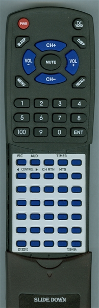 TOSHIBA 23120010 CT-9562 Custom Built Replacement Redi Remote