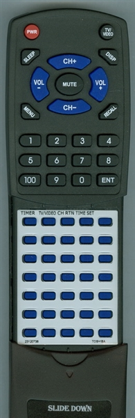TOSHIBA 23120738 CT-9164 Custom Built Redi Remote