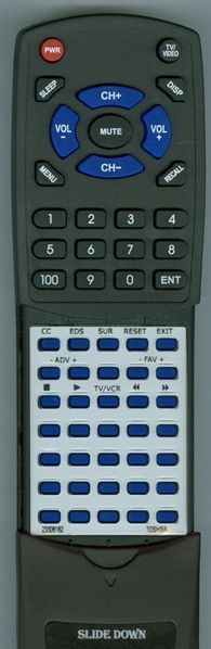 TOSHIBA 23306182 CT-9865 Custom Built Replacement Redi Remote