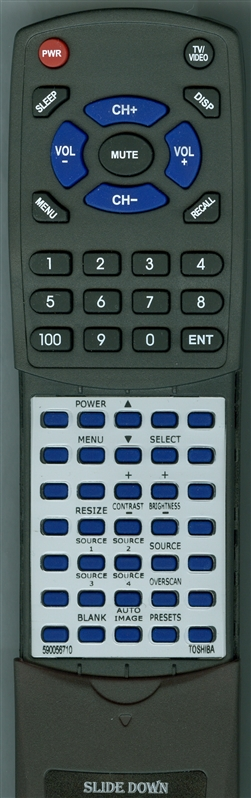 TOSHIBA 590056710 Custom Built Redi Remote