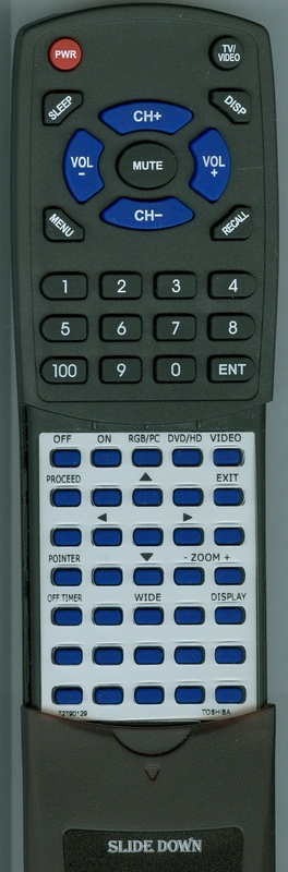 TOSHIBA 72790129 CT-838 Custom Built Redi Remote