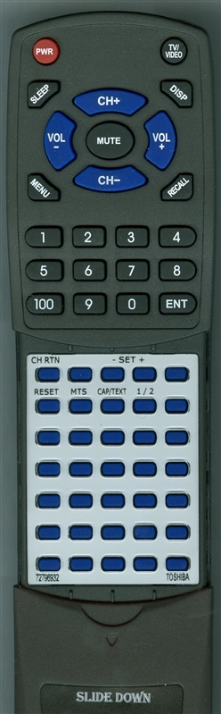 TOSHIBA 72796932 CT-837 Custom Built Redi Remote