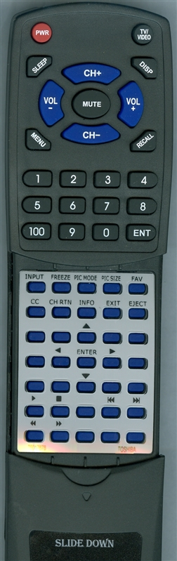 TOSHIBA 75017678 CT-90325 Custom Built Replacement Redi Remote